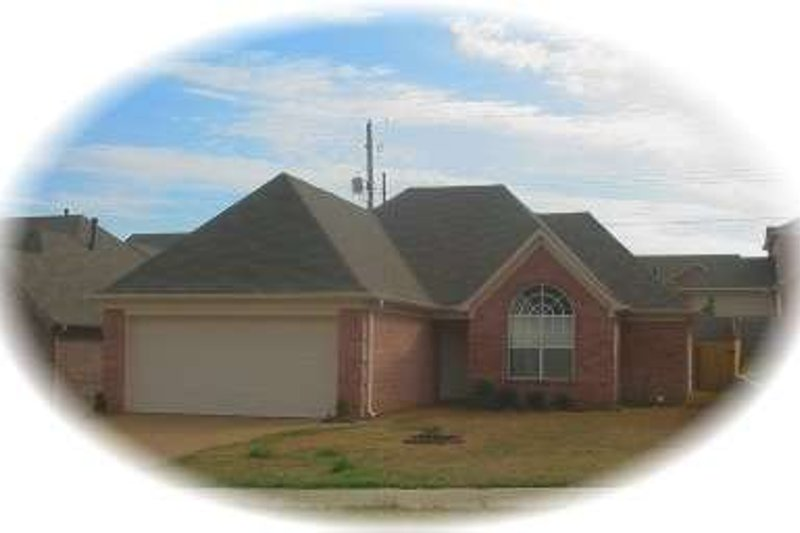 European Style House Plan - 3 Beds 2 Baths 1427 Sq/Ft Plan #81-1407 Exterior - Front Elevation