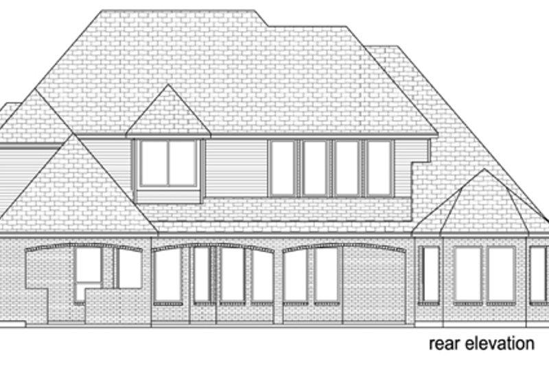 European Exterior - Rear Elevation Plan #84-508 - Houseplans.com
