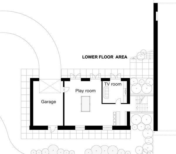 European Floor Plan - Lower Floor Plan Plan #520-10