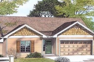Traditional Exterior - Front Elevation Plan #53-104