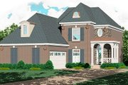 Southern Style House Plan - 4 Beds 2.5 Baths 2011 Sq/Ft Plan #81-199 Exterior - Front Elevation