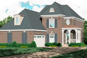 Southern Exterior - Front Elevation Plan #81-199