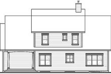 Country Exterior - Rear Elevation Plan #23-395