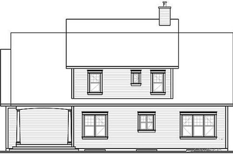 Country Exterior - Rear Elevation Plan #23-395 - Houseplans.com