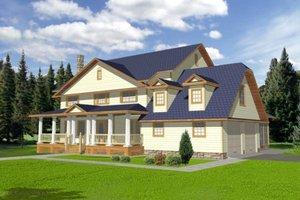 Country Exterior - Front Elevation Plan #117-291