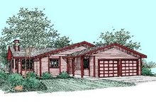 Ranch Exterior - Front Elevation Plan #60-363