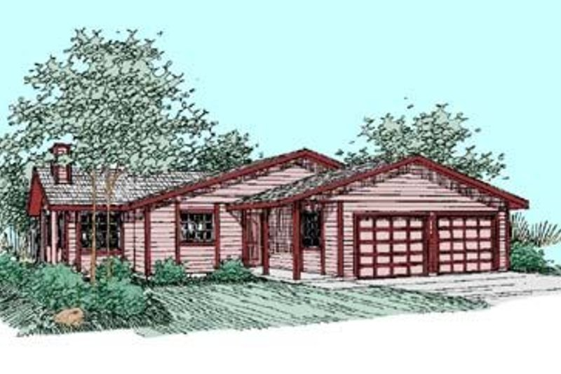 Dream House Plan - Ranch Exterior - Front Elevation Plan #60-363