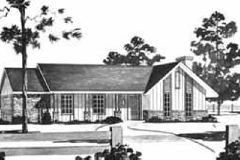 Ranch Exterior - Front Elevation Plan #36-368 - Houseplans.com