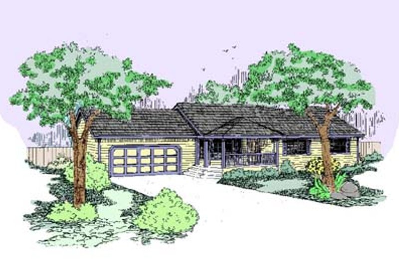 Ranch Exterior - Front Elevation Plan #60-457
