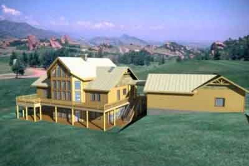 Modern Exterior - Front Elevation Plan #117-179 - Houseplans.com
