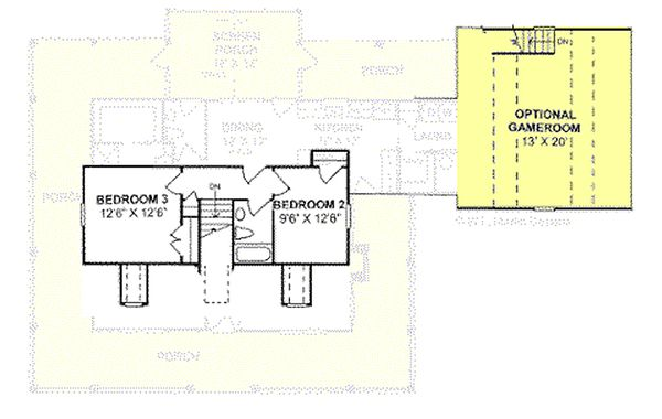 Country house plan, floor plan