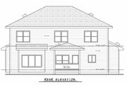 Traditional Style House Plan - 4 Beds 3.5 Baths 2738 Sq/Ft Plan #20-2406 Exterior - Rear Elevation