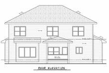 House Plan Design - Traditional Exterior - Rear Elevation Plan #20-2406