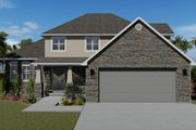 Traditional Style House Plan - 3 Beds 2.5 Baths 2026 Sq/Ft Plan #1060-49 Exterior - Front Elevation