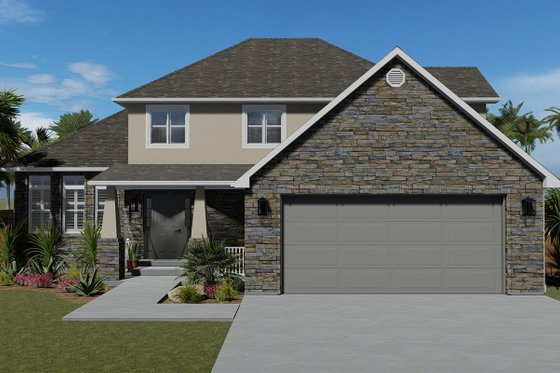 Traditional Exterior - Front Elevation Plan #1060-49