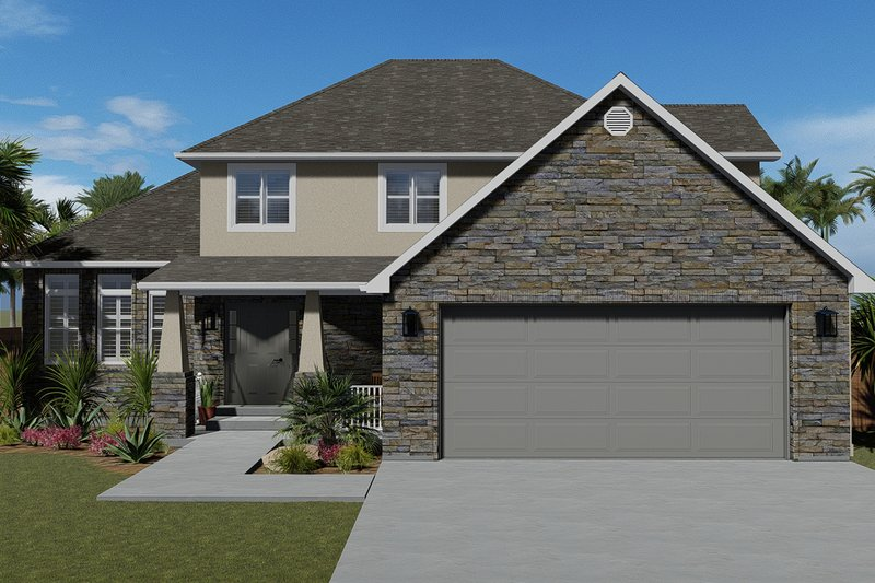 Architectural House Design - Traditional Exterior - Front Elevation Plan #1060-49