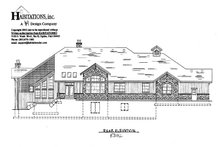 House Plan Design - Craftsman Exterior - Rear Elevation Plan #5-330