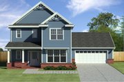 Traditional Style House Plan - 3 Beds 2.5 Baths 2132 Sq/Ft Plan #497-43 Exterior - Front Elevation
