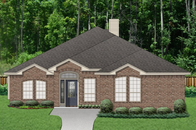 Traditional Exterior - Front Elevation Plan #84-615 - Houseplans.com