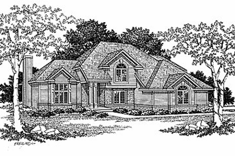 Traditional Exterior - Front Elevation Plan #70-187 - Houseplans.com
