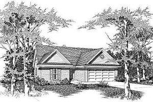 Cottage Exterior - Front Elevation Plan #329-167