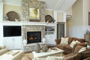 European Style House Plan - 4 Beds 3.5 Baths 5977 Sq/Ft Plan #928-8 Interior - Family Room