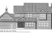 Southern Style House Plan - 4 Beds 2.5 Baths 1970 Sq/Ft Plan #70-257 Exterior - Rear Elevation