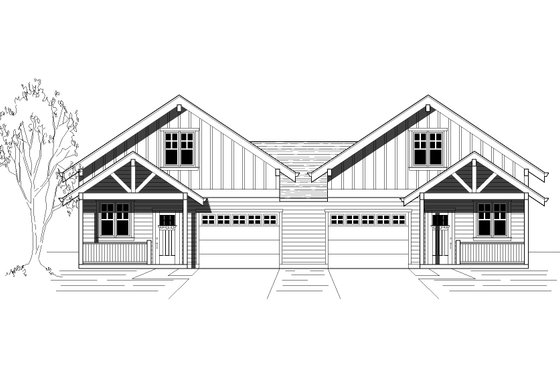 Cottage Exterior - Front Elevation Plan #423-52