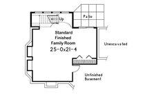 Traditional Floor Plan - Lower Floor Plan Plan #57-185