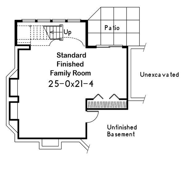 Traditional Floor Plan - Lower Floor Plan #57-185