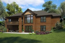 House Plan Design - Ranch Exterior - Rear Elevation Plan #48-950