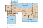 Country Style House Plan - 3 Beds 3 Baths 2921 Sq/Ft Plan #17-2592 Floor Plan - Main Floor