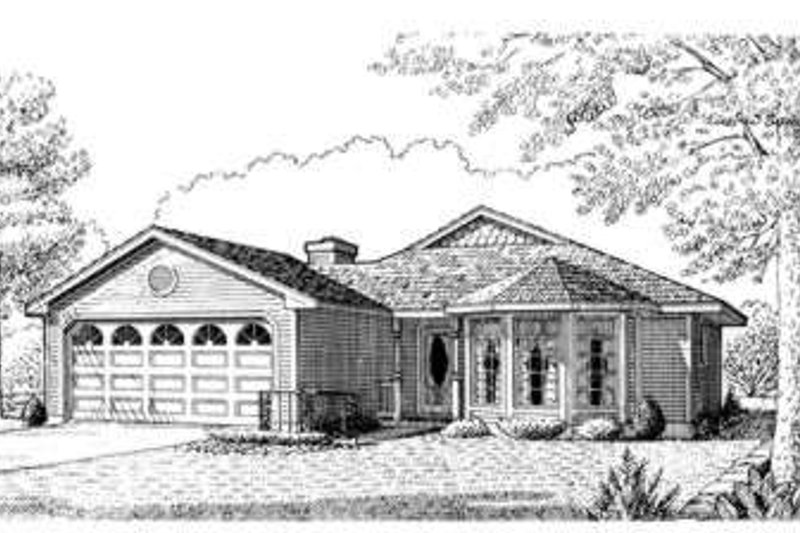 Country Exterior - Front Elevation Plan #410-128