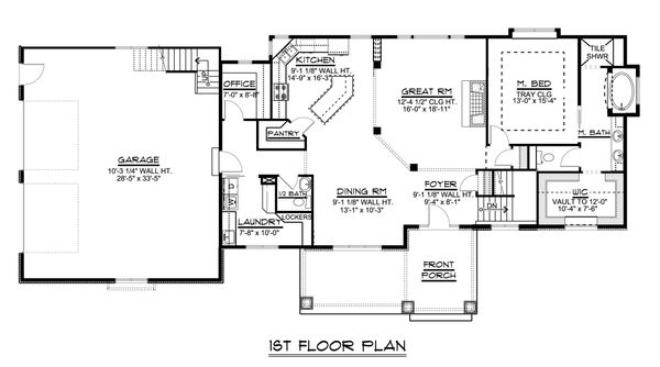 Dream House Plan - Ranch Floor Plan - Main Floor Plan #1064-31