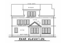 Dream House Plan - Craftsman Exterior - Rear Elevation Plan #20-2468