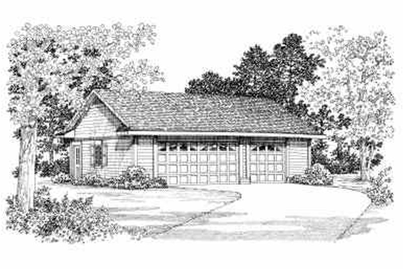 Traditional Exterior - Front Elevation Plan #72-256 - Houseplans.com