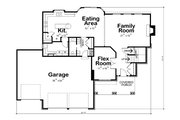 Craftsman Style House Plan - 3 Beds 3 Baths 2815 Sq/Ft Plan #20-2366 Floor Plan - Main Floor Plan