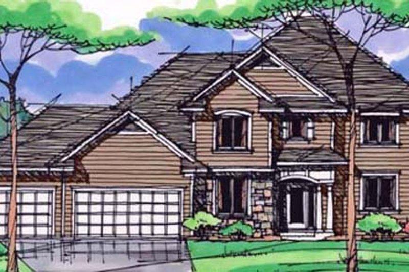 Craftsman Exterior - Front Elevation Plan #51-385 - Houseplans.com