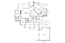 Mediterranean Floor Plan - Main Floor Plan Plan #80-117