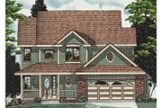 Traditional Style House Plan - 4 Beds 2.5 Baths 1771 Sq/Ft Plan #20-2022 Exterior - Front Elevation