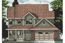 Home Plan - Traditional Exterior - Front Elevation Plan #20-2022