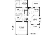 Craftsman Style House Plan - 3 Beds 2 Baths 1275 Sq/Ft Plan #48-165 Floor Plan - Main Floor Plan