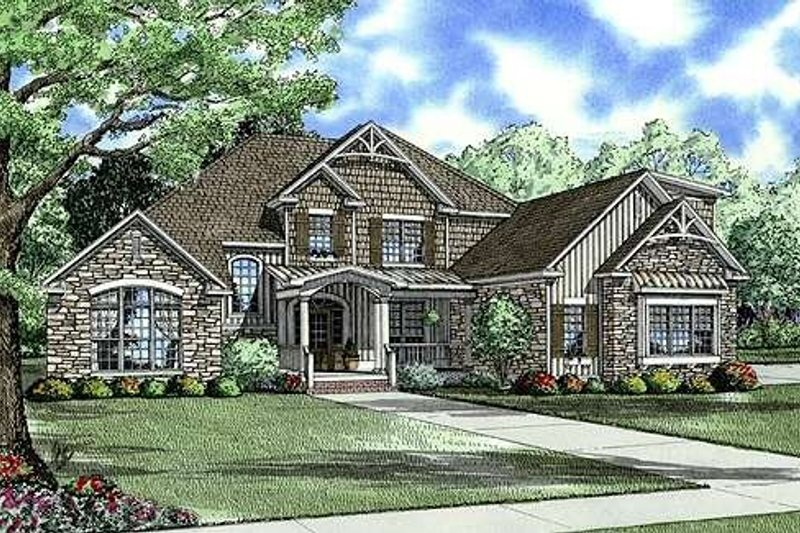 Architectural House Design - Traditional Exterior - Front Elevation Plan #17-2147