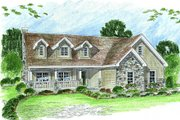 Cottage Style House Plan - 3 Beds 2.5 Baths 2614 Sq/Ft Plan #455-167 Exterior - Front Elevation