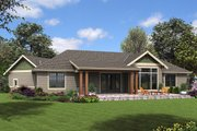 Craftsman Style House Plan - 3 Beds 2.5 Baths 1953 Sq/Ft Plan #48-952 Exterior - Rear Elevation
