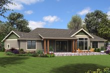 Dream House Plan - Craftsman Exterior - Rear Elevation Plan #48-952