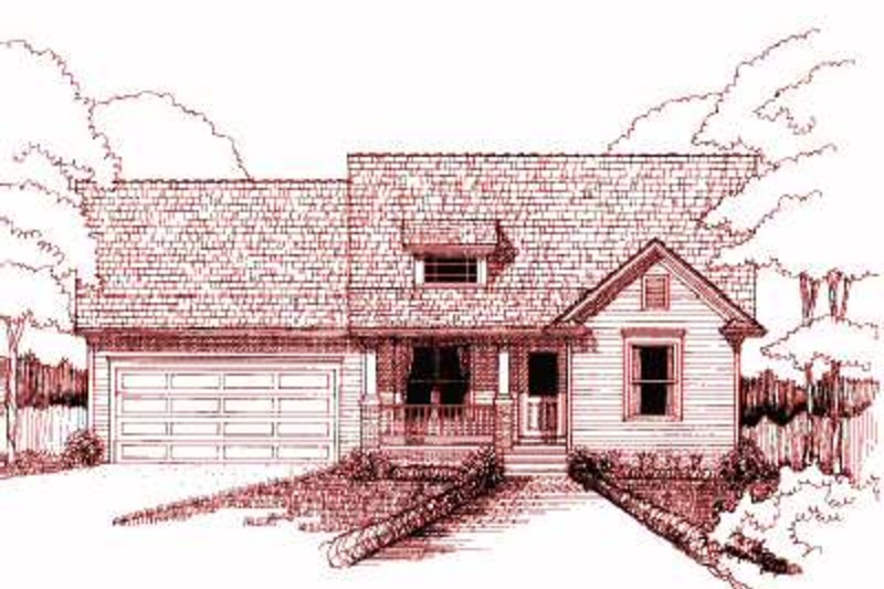 Country Exterior - Front Elevation Plan #79-164 - Houseplans.com