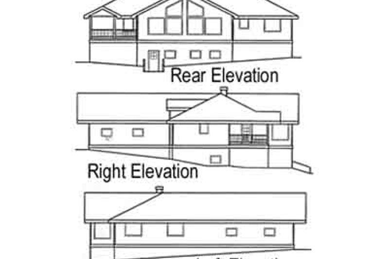 Traditional Exterior - Rear Elevation Plan #60-432 - Houseplans.com