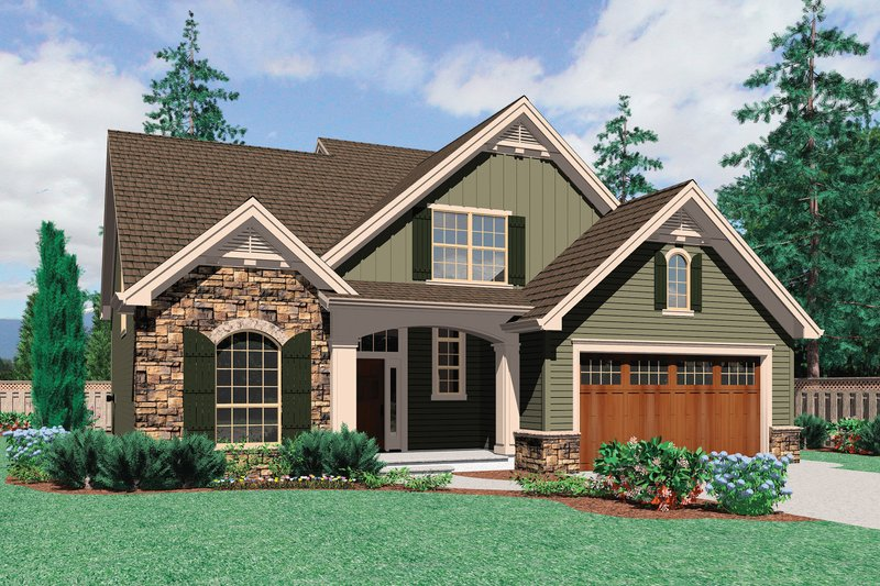 Traditional style Plan 48-109, front elevation