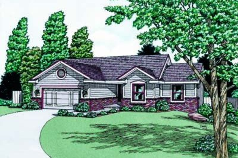 Traditional Exterior - Front Elevation Plan #20-400 - Houseplans.com